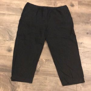 J.Jill Linen Cropped Pants Size Large Pull On